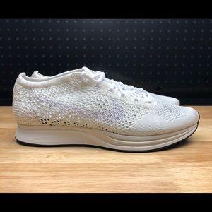 d5580fde35de9 Nike Shoes - Nike Flyknit Racer White Goddess Men s Size ...